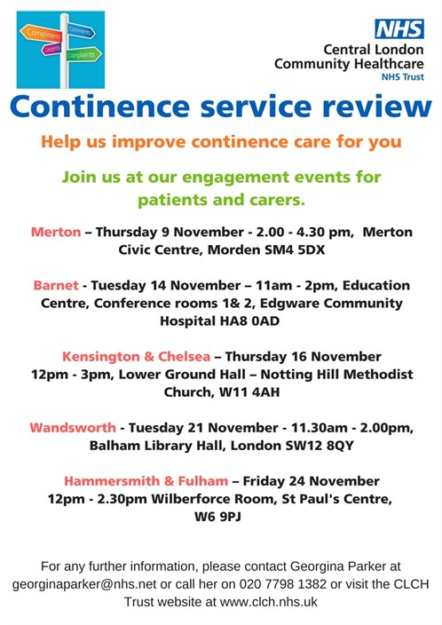 Central London Community Healthcare NHS Trust :: Continence